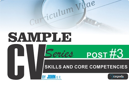 sample cv series  skills and core competencies  u2013 acegoals